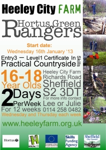 New courses at Heeley City Farm 2, February 2013