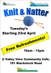Knit and Natter poster A5 2013