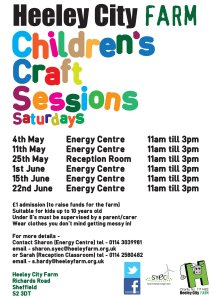 Saturday craft sessions at Heeley City Farm from May 2013